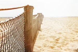 Closeup of beach sea way. Horizontal