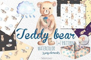 Teddy Bear watercolor