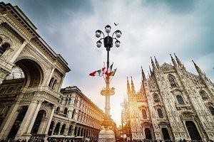 Milan, Italy. Duomo Church Panoramic