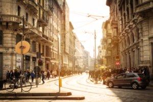 Blurred Background of Italian Street