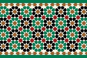 Morocco Seamless Border