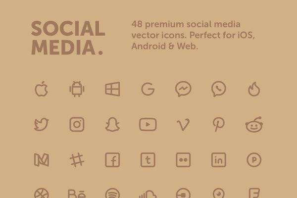 Premium Social Media Icons