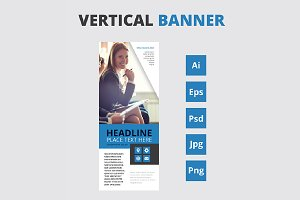 Vertical banners - roll up