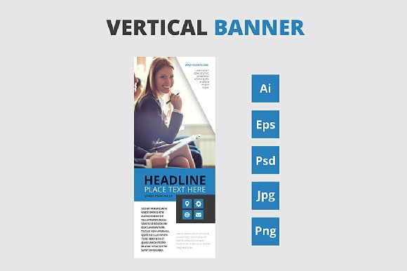 Vertical Banners Roll Up
