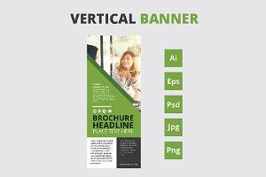Vertical banner - roll up