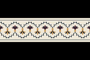 Indian Floral Seamless Border