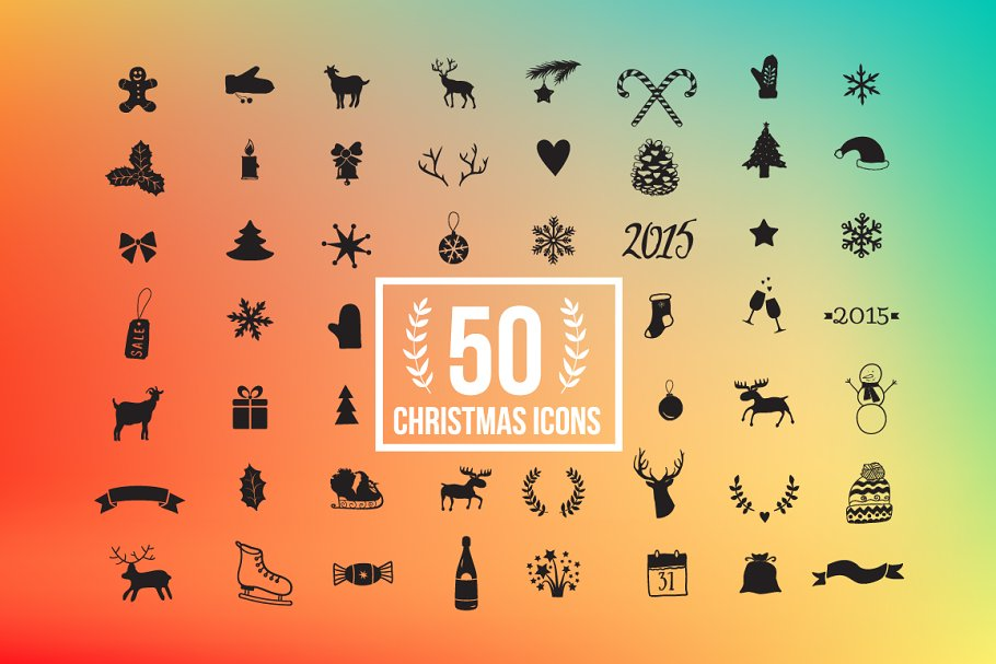 56 Christmas Icon Set in Christmas Icons