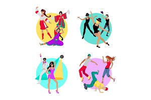 Set Folk, Jazz, Disco or Electric and Street Dance