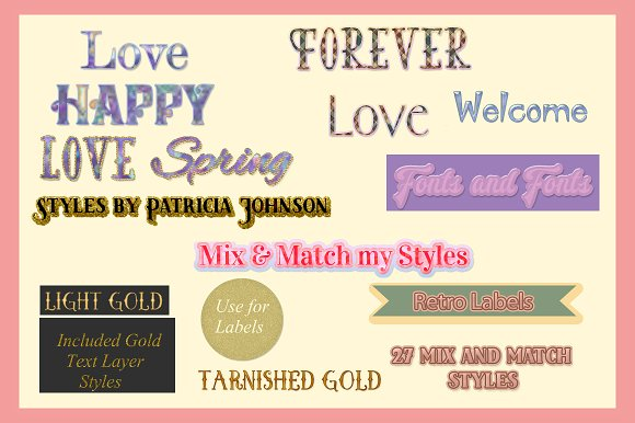 Gold Photoshop Text Styles
