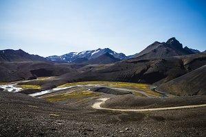 Volcanic landscape. Iceland