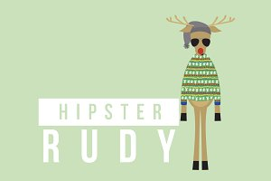 Hipster Rudy the Reindeer