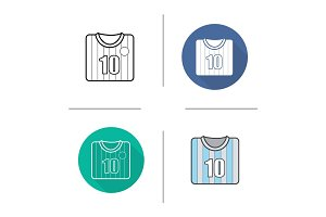 Soccer player's shirt icon