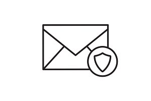 Email security linear icon