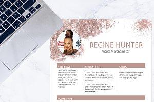 Resume - Rose Gold Glitter