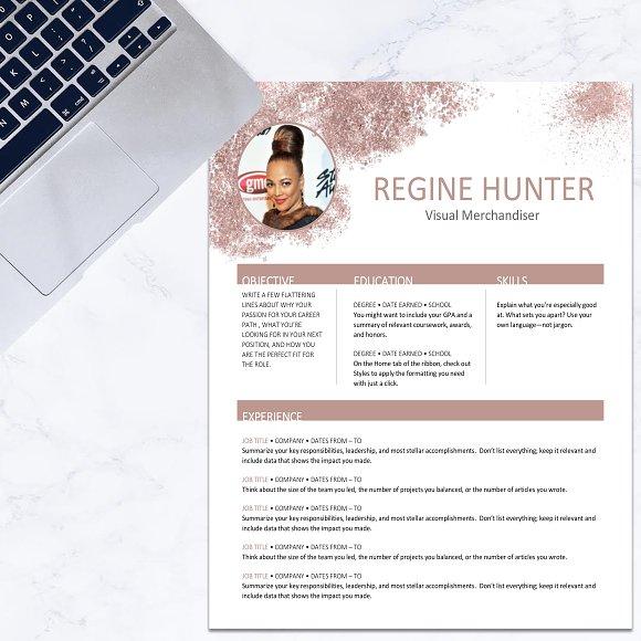 Resume Rose Gold Glitter