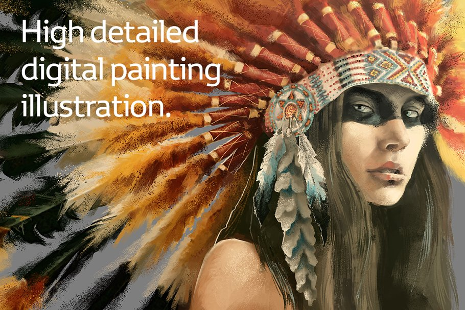 200677246ac Indian woman in headdress ~ Illustrations ~ Creative Market