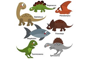 Cute dinosaurus set. eps+jpg