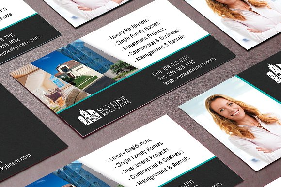 Real estate business card template business card templates real estate business card template business card templates creative market cheaphphosting Image collections