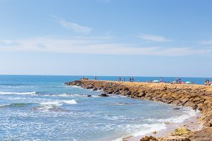 Tourism in spain. Beach in Cadiz