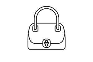 Women's handbag linear icon