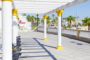 Tourism in spain. Maritime promenade