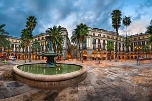 Placa Reial in Barcelona, Spain