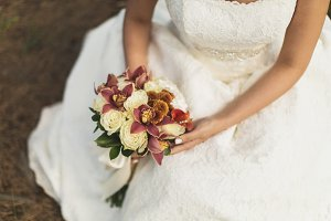 Bride with a beautiful bouquet