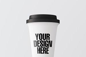 Blank coffee cup mockup 07