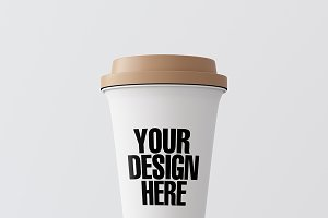 Blank coffee cup mockup 08