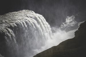 Waterfall Gullfoss. Iceland