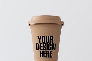 Blank coffee cup mockup 09