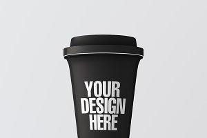 Blank coffee cup mockup 011
