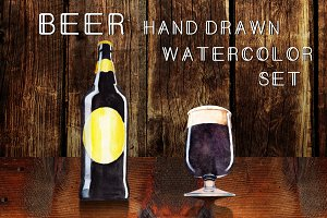 Beer watercolor set