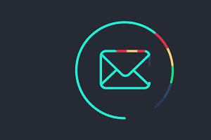 Animated Sending Email Symbol