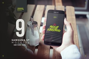 Samsung S7 PSD Mockups