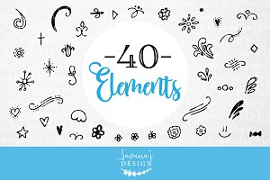 Design Elements Cut Files & Clipart