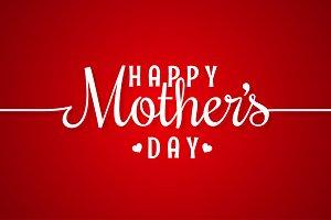 mothers day line vintage lettering