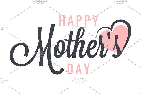 Mothers Day Vintage Label Background