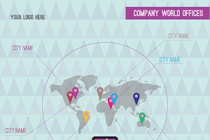 Company World Map Offices