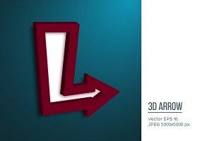 Realistic 3d arrow.