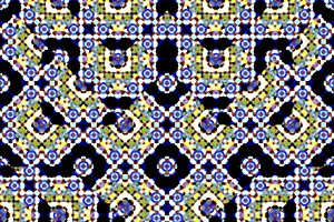 Islamic Ornate Seamless Pattern Mosaic