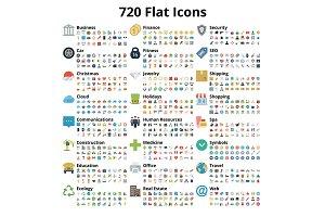 720 Flat Icons Set