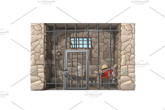 Cowboy Prisoner Sleeps In A Prison Cell