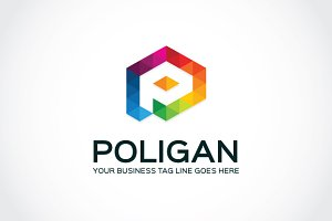 Poligan Logo Template