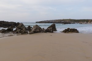 The beach of Toró in Llanes