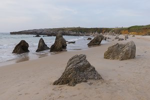 The beach of Toró in Llanes