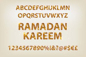 English alphabet in Arabic style
