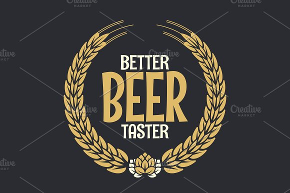 Beer Label Reward Logo On Dark