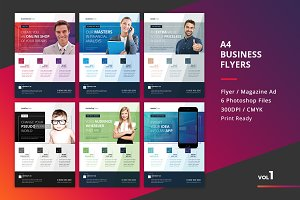 Corporate Flyer Templates 6PSD - #1