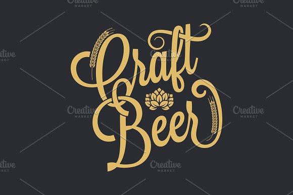 Beer Vintage Lettering Background